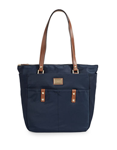 Calvin Klein Teodora Nylon Tote Bag-BLUE-One Size