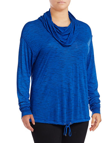 Calvin Klein Performance Plus Quick-Dry Space Dye Cowl Neck Hoodie-BLUE-1X 88737814_BLUE_1X