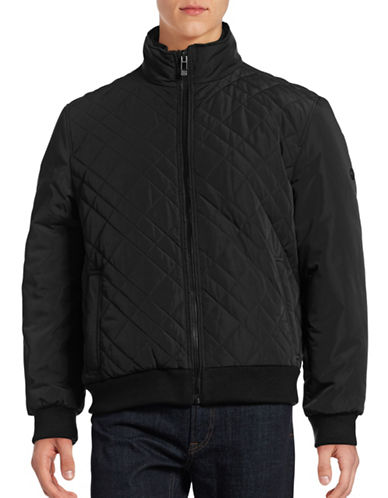 Calvin Klein Quilted Bomber Jacket-BLACK-X-Large 88387876_BLACK_X-Large