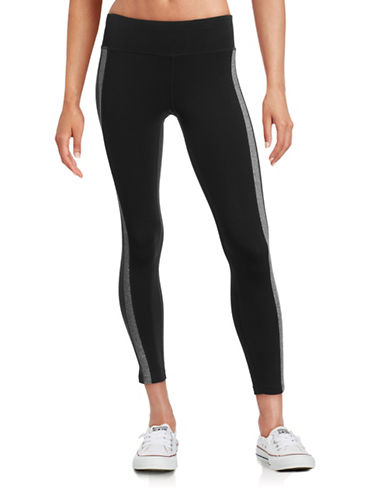 Calvin Klein Performance Side Stripe Capri Leggings-BLACK/GREY-Small 88509090_BLACK/GREY_Small