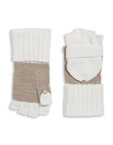 Calvin Klein Colourblocked Flip-Top Gloves-ALMOND-One Size 88911140_ALMOND_One Size
