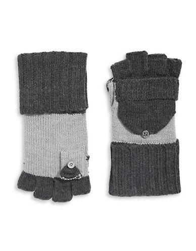 Calvin Klein Colourblocked Flip-Top Gloves-GREY-One Size 88911138_GREY_One Size