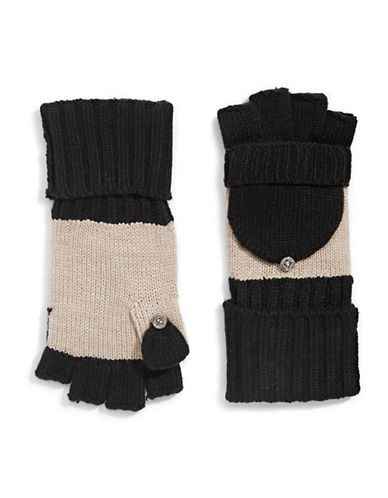 Calvin Klein Colourblocked Flip-Top Gloves-BLACK-One Size 88911139_BLACK_One Size