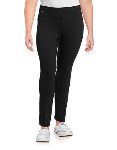 Calvin Klein Performance Plus Ponte Stretch Pants-BLACK-1X 88842746_BLACK_1X