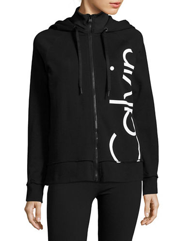 Calvin Klein Performance High-Neck Logo Hoodie-BLACK-X-Large 88864805_BLACK_X-Large