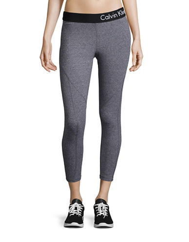 Calvin Klein Performance Quick-Dry Marled Logo Leggings-HEATHER GREY-X-Large 88508209_HEATHER GREY_X-Large
