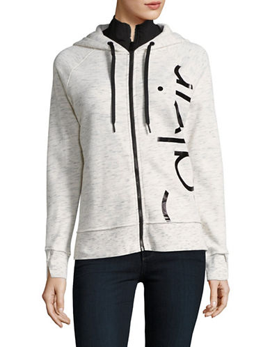 Calvin Klein Performance Zip-Up Logo Hoodie-HEATHER FOG-X-Small 89004237_HEATHER FOG_X-Small
