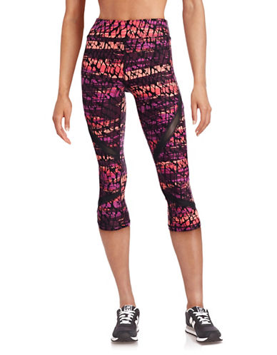 Calvin Klein Performance Printed Performance Capris-RED MULTI-Small 88613144_RED MULTI_Small