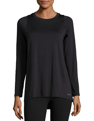 Calvin Klein Performance Pleated Back Performance Top-BLACK-X-Large 88613153_BLACK_X-Large