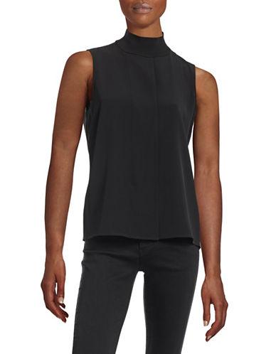 Calvin Klein Rib Mock Neck Zip Tank-BLACK-Large 88518475_BLACK_Large