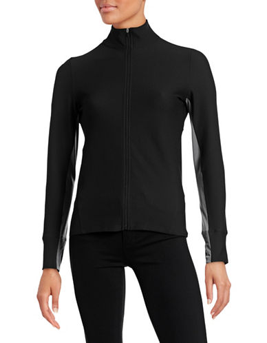 Calvin Klein Performance Quick-Dry Contrast Mesh Zip Jacket-BLACK-Medium 88436767_BLACK_Medium