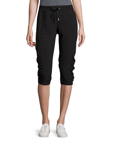 Calvin Klein Performance Quick-Dry Drawstring Capris-BLACK-Large 88731051_BLACK_Large