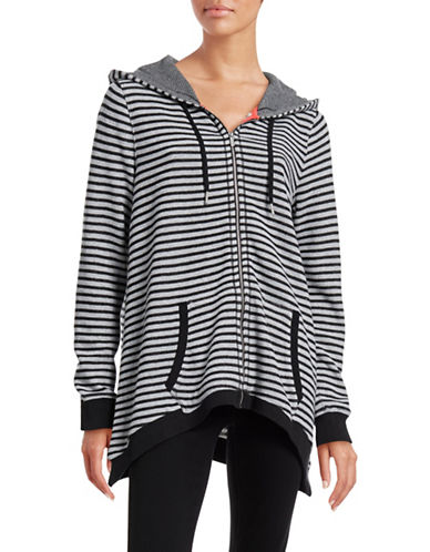 Calvin Klein Performance Striped Cotton Full-Zip Hoodie-GREY-Medium 88436762_GREY_Medium
