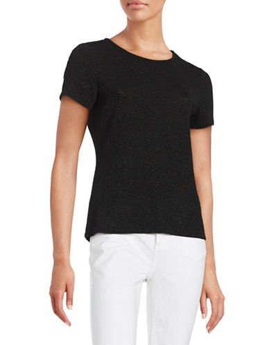 Calvin Klein Textured Knit Top-BLACK-Medium 88465707_BLACK_Medium