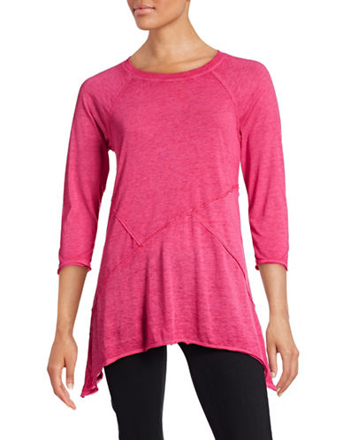 Calvin Klein Performance Panelled Sharkbite Raglan Top-PINK-Medium 88436802_PINK_Medium