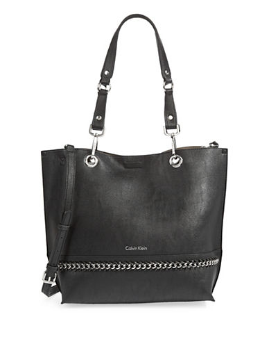 Calvin Klein Sonoma Reversible Unlined Tote Bag-BLACK-One Size