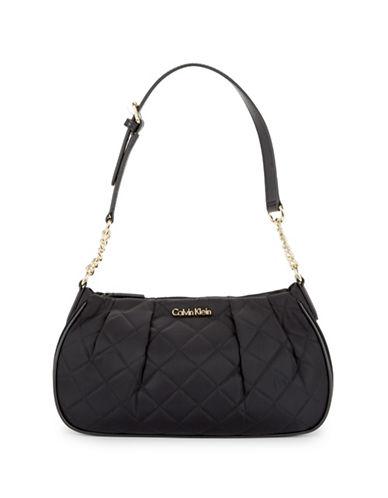 Calvin Klein Quilted Shoulder Bag-BLACK-One Size