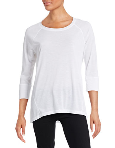 Calvin Klein Performance Raglan Sleeve Performance Tee-WHITE-Large 88436811_WHITE_Large