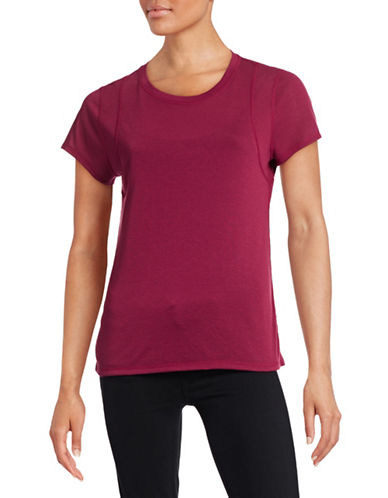 Calvin Klein Performance Quick-Dry Stitch Detail Tee-PURPLE-X-Large 88436784_PURPLE_X-Large