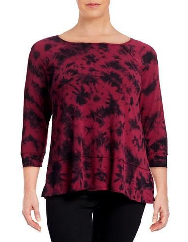 Calvin Klein Performance Plus Hi-Lo Hem Tie-Dye Top-PORT COMBO-3X 88492350_PORT COMBO_3X