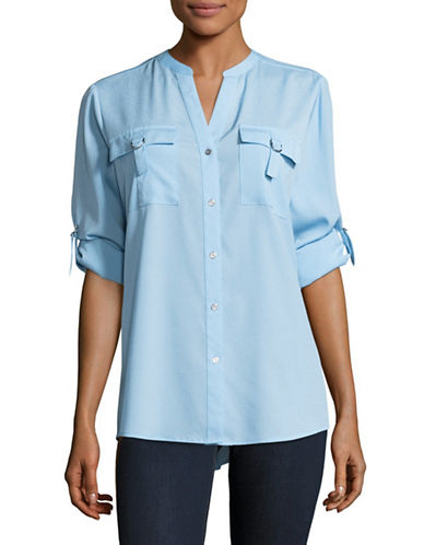 Calvin Klein D-Ring Blouse-BLUE-Medium