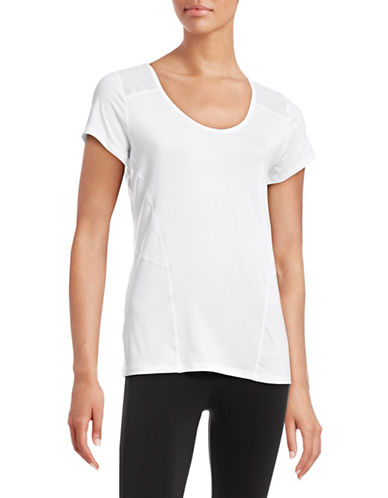 Calvin Klein Performance Mesh Insert Scoop Neck Tee-WHITE-Large 88497053_WHITE_Large