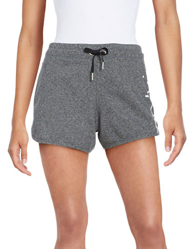 Calvin Klein Performance Moisture-Wicking Cotton Performance Shorts-BLACK HEATHER-Large 89004246_BLACK HEATHER_Large