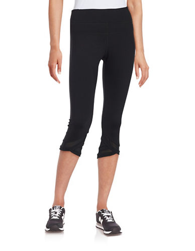 Calvin Klein Performance Mesh Panel Leggings-BLACK-Small 88435302_BLACK_Small