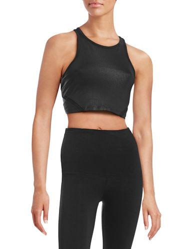 Calvin Klein Performance Quick-Dry Mesh Insert Bra-BLACK-Small 88409274_BLACK_Small