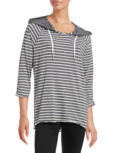 Calvin Klein Performance Striped Hooded Top-WHITE MULTI-Small 88497059_WHITE MULTI_Small