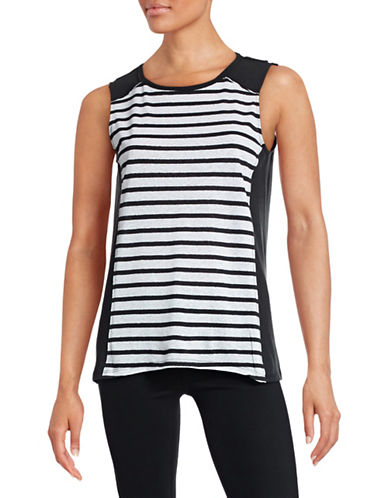 Calvin Klein Performance Striped Muscle Tank-BLACK-X-Large 88497048_BLACK_X-Large