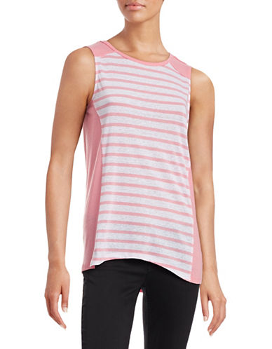 Calvin Klein Performance Striped Muscle Tank-PINK-X-Large 88497052_PINK_X-Large