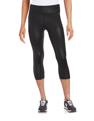 Calvin Klein Performance Embossed Leggings-BLACK-X-Large 88497040_BLACK_X-Large