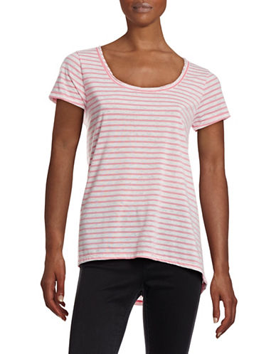 Calvin Klein Performance Striped Performance T-Shirt-PINK MULTI-X-Large 88345727_PINK MULTI_X-Large
