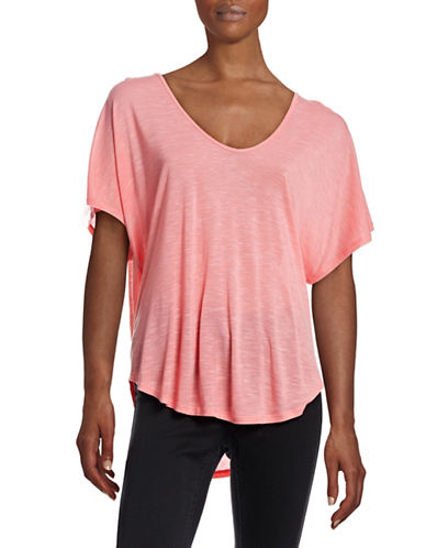 Calvin Klein Performance Racerback Cut-Out Performance Tee-PINK-Medium 88345705_PINK_Medium