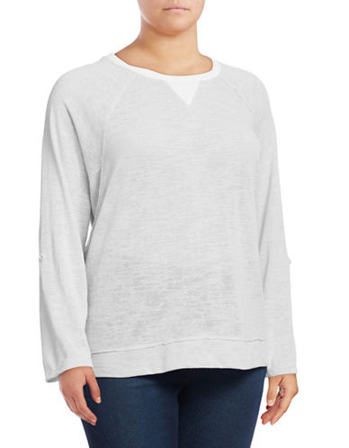 Calvin Klein Performance Plus Quick-Dry Stripe-Stitch Dolman Top-GREY-1X 89808780_GREY_1X