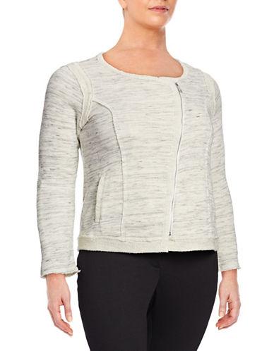 Calvin Klein Performance Plus Heathered Moto-Zip Jacket-BEIGE-2X 88163642_BEIGE_2X