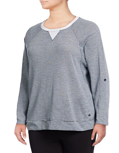 Calvin Klein Performance Plus Quick-Dry Stripe-Stitch Dolman Top 89808784
