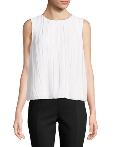 Calvin Klein Sleeveless Bubble Top-WHITE-Small