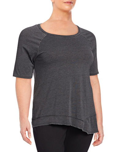 Calvin Klein Performance Plus Asymmetrical Hem T-Shirt-GREY-1X 88163635_GREY_1X