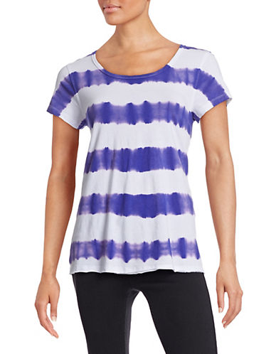 Calvin Klein Performance Tie Dye Stripe T-Shirt-PURPLE-Large 88175764_PURPLE_Large