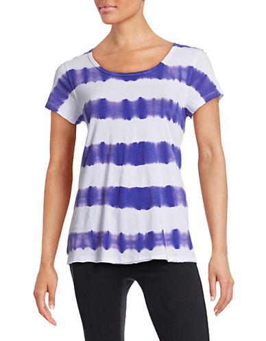 Calvin Klein Performance Tie Dye Stripe T-Shirt-PURPLE-Medium 88175765_PURPLE_Medium