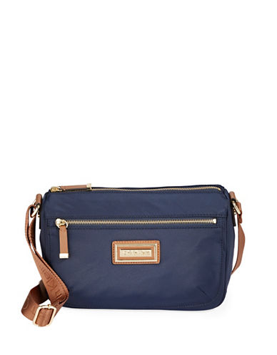 Calvin Klein Nylon Shoulder Bag-BLUE-One Size
