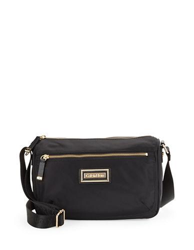 Calvin Klein Nylon Shoulder Bag-BLACK-One Size