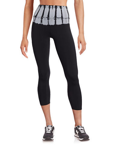 Calvin Klein Performance High-Waist Compression Capri Leggings-BLACK/GREY-Small 88435298_BLACK/GREY_Small