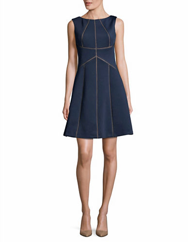 Calvin Klein Sleeveless A-Line Dress-BLUE-6