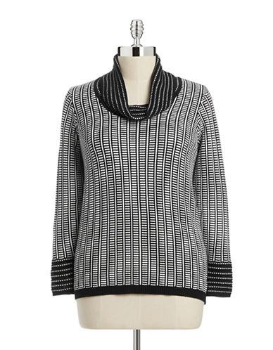 Calvin Klein Plus Cowl Neck Knit Sweater-GREY-0X 87999769_GREY_0X