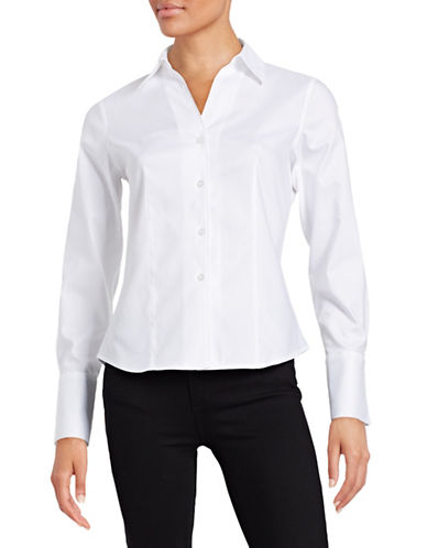 Karl Lagerfeld Paris French Cuff Dress Shirt-NATURAL-4