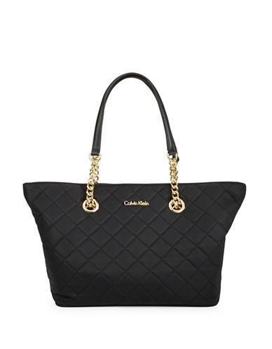 Calvin Klein Florence Nylon Tote-BLACK-One Size