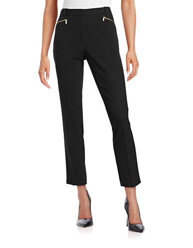 Calvin Klein Zip Pocket Dress Pants-BLACK-4
